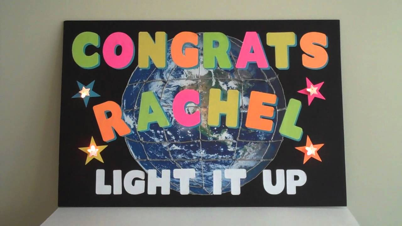 ArtSkills Congratulations Poster With Lights! - YouTube