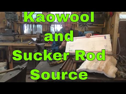 Kaowool and sucker rod source for blacksmithing tools