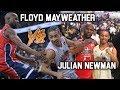 Julian Newman vs Floyd Mayweather! Floyd CAN HOOP!? Julian Dropping Buckets in Celebrity Game!