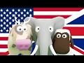 Aprenda inglês para crianças! Ensine às crianças os animais, veículos e números em inglês.