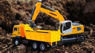 Construction Vehicles Toys for kids |  Dump Trucks, Excavator for Children