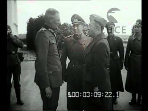 Il Comandante della 2 Armata Italiana restituisce la visita al Generale comandante tedesco