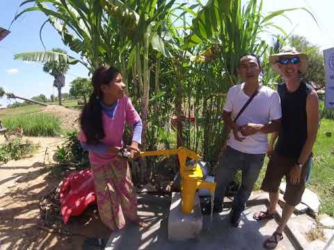 Cambodia water well donated by Mr. Awesome Mike Rozier