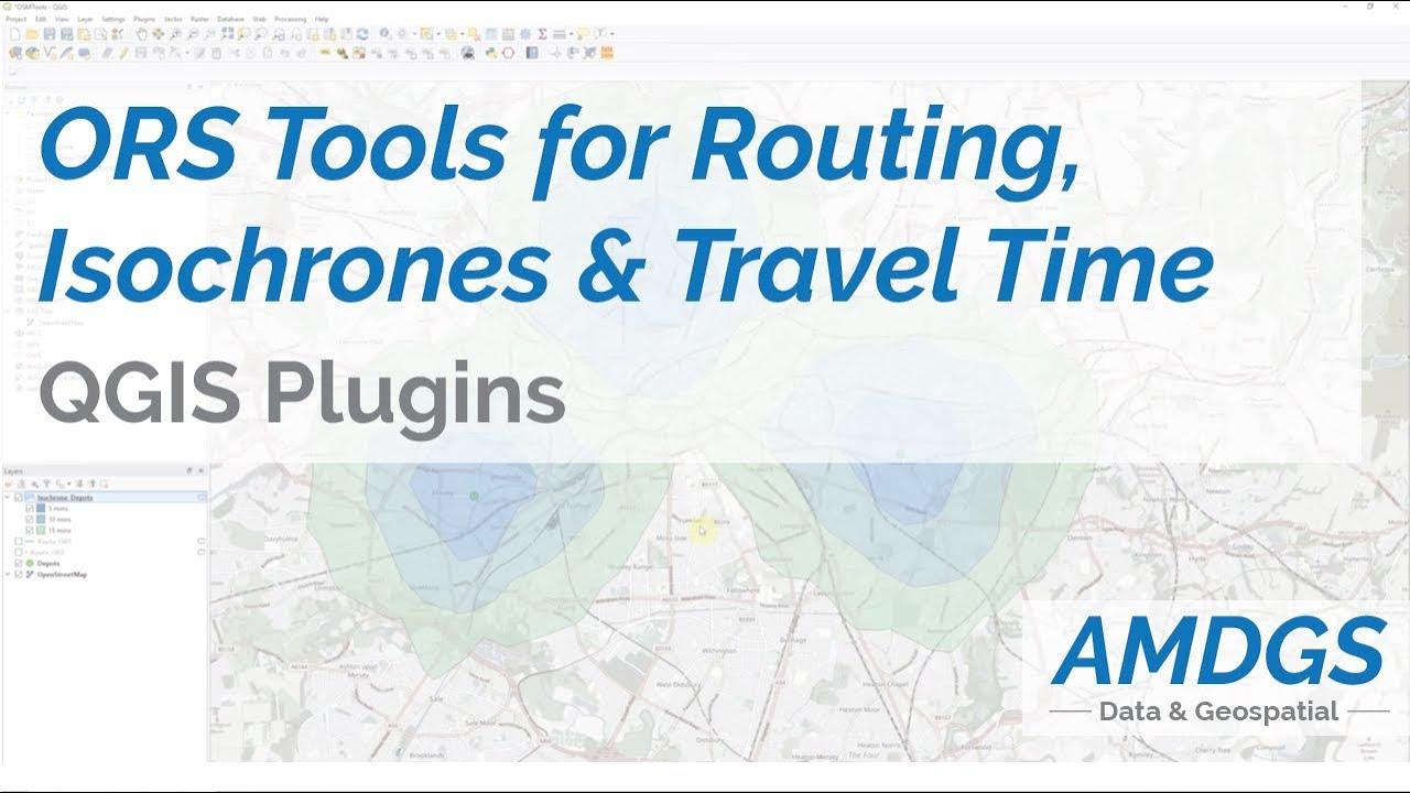 Orstools For Routing Isochrones And Travel Time In Qgis Youtube