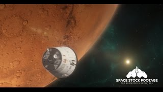 Space Stock Footage - Lander Approaching Mars