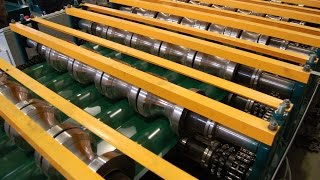 видео Производство металлочерепицы: технология, линия изготовления, оборудование