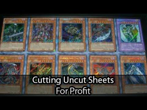 Yugioh uncut sheet