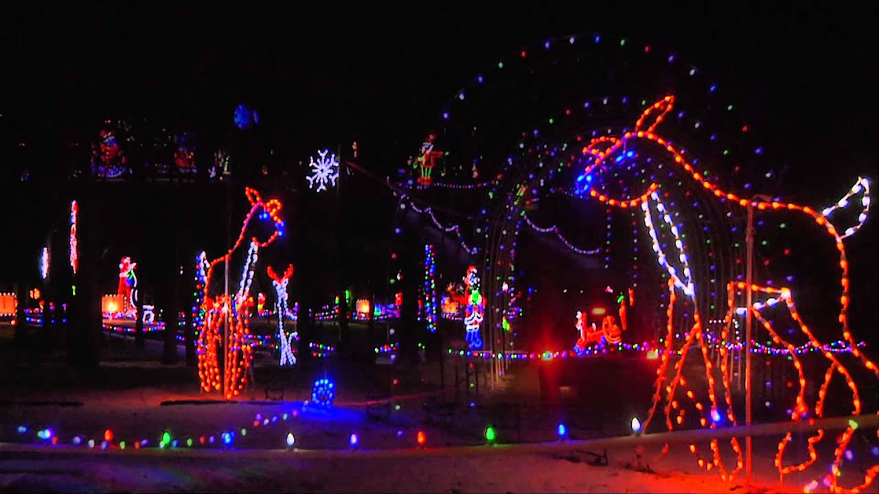Santa Claus Land Of Lights At Lake Rudolph Campground Amp Rv