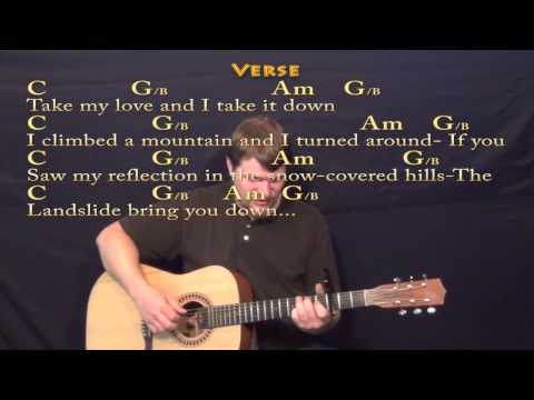 Landslide (Fleetwood Mac) Fingerstyle Guitar Cover Lesson with Chords/Lyrics