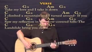Landslide (Fleetwood Mac) Fingerstyle Guitar Cover Lesson with Chords/Lyrics