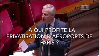 À QUI PROFITE LA PRIVATISATION D'AÉROPORTS DE PARIS ?