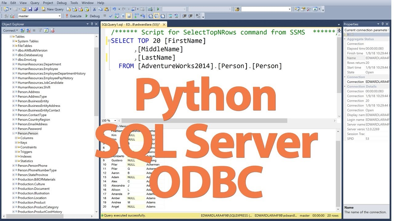 How to Connect to SQL Server with Python Via ODBC