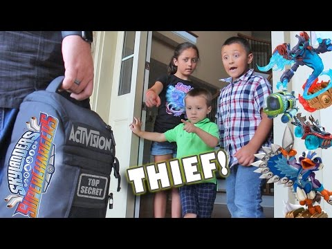 Kids steal SKYLANDERS SUPERCHARGERS from Activision!  (Introduction Trailer Skit)