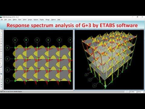Response spectrum analysis of G+3 by ETABS software