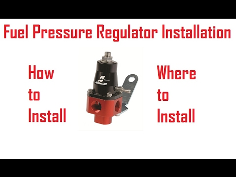 Fuel Pressure Regulator Install How To/Tech - YouTube