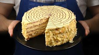 Торт Эстерхази без муки! Это самый вкусный миндальный торт. Так вкусно!