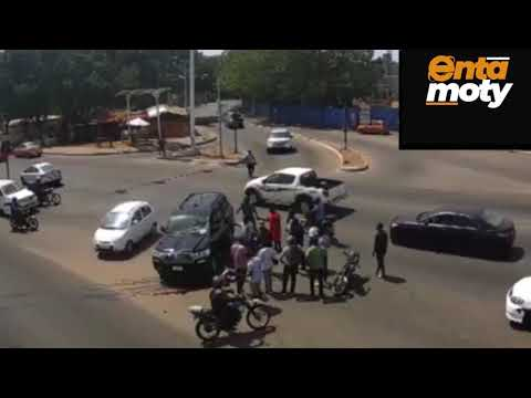 Fatal accident on the streets of Accra as captured by Ghana Police Service