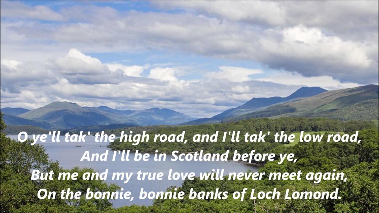 Celtic Songs Loch Lomond words lyrics best top popular favorite Scottish  sing along song