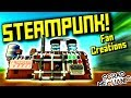 STEAMPUNK FAN CREATIONS! (Suspended Mountain Base Part 10) - Scrap Mechanic Gameplay