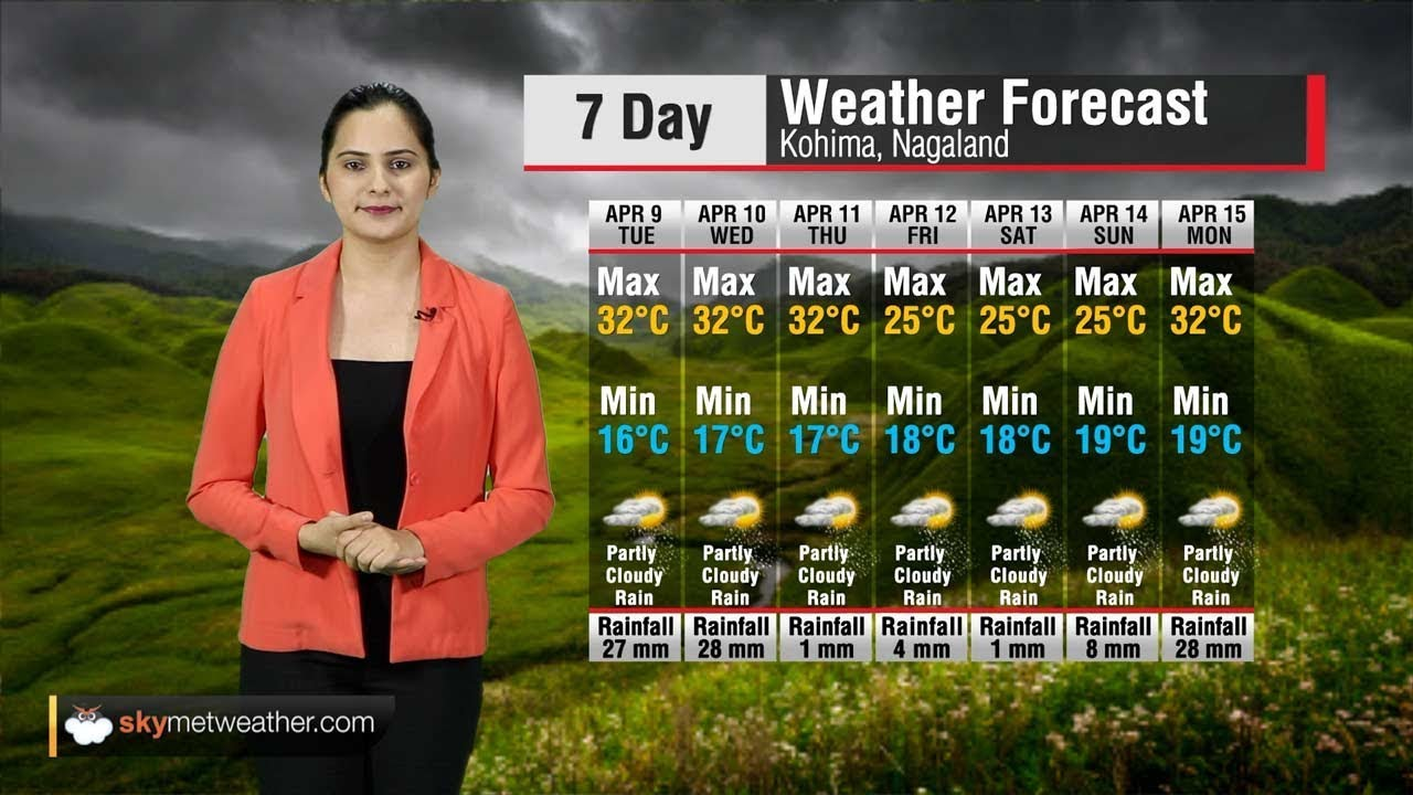 Weather Forecast for Nagaland from April 9 to April 15 ...