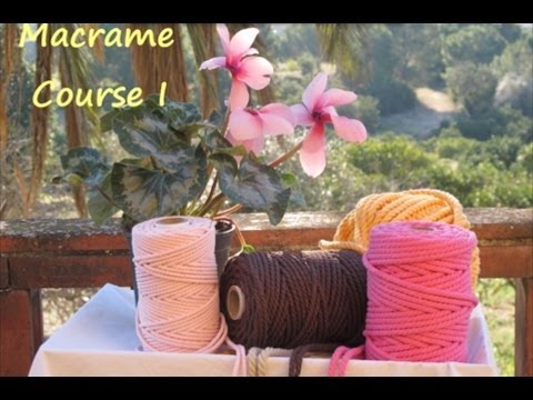 Free Online Macrame Course: Learn How to Make Decorative Knots (PART 1)