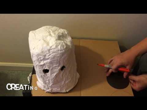 Creating a Paper Mache Frankenstein Halloween Mask