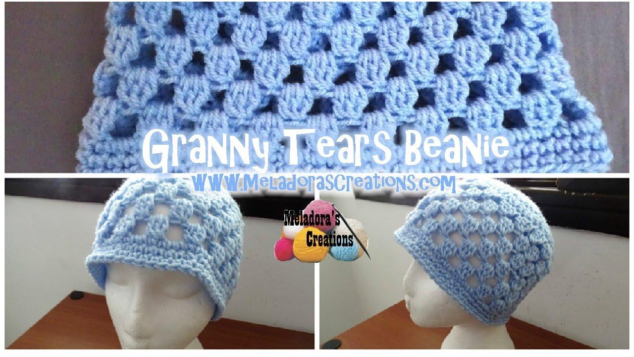 Granny Tears Beanie - All Sizes - Crochet Beanie Tutorial - YouTube f5c44696fe1