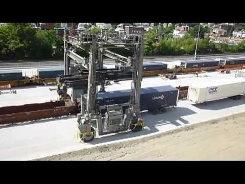 MI-JACK operation at CSX intermodal yard in Worcester, MA