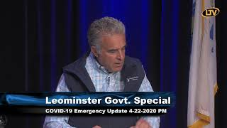 City of Leominster COVID 19 Update 4-22-2020 PM