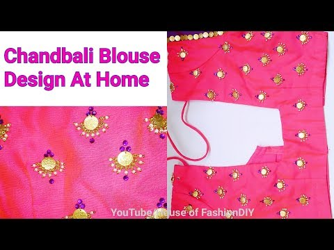How to Design Chandbali Model On Blouse At Home//Latest Blouse Designs..!