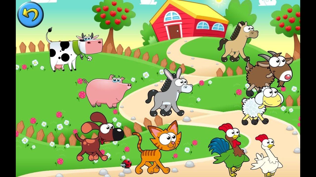 animal farm game for kids learning animals for children