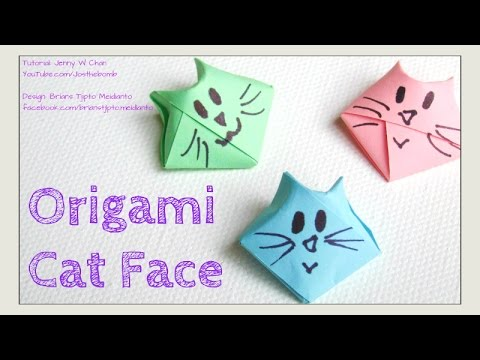 Origami Cat - DIY How to Fold 3D Origami Cat Face - Traditional Origami Star