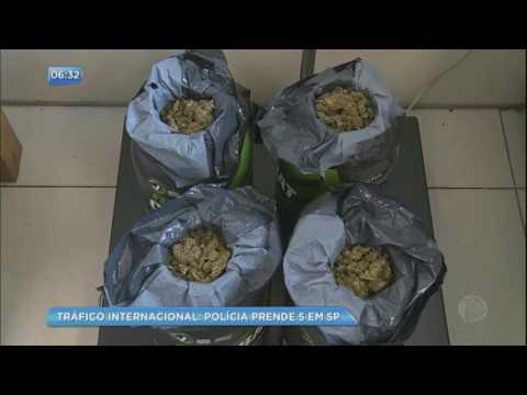 Polícia Federal prende cinco envolvidos em tráfico internacional de drogas em SP