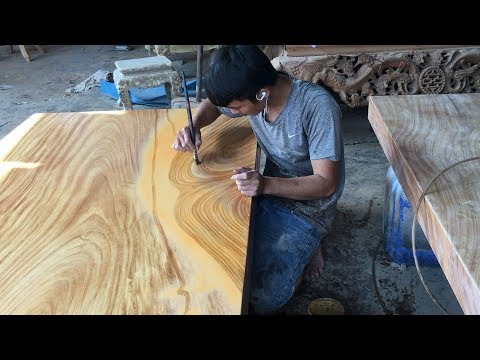 Amazing Techniques Carpenters Woodworking Skills - How to Paint Wood Grain Art