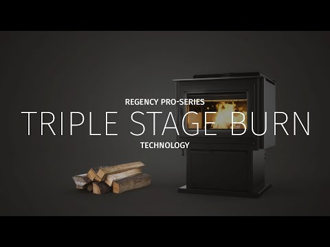Triple Stage Burn Technology On Regency Pro-Series Hybrid Wood Stoves