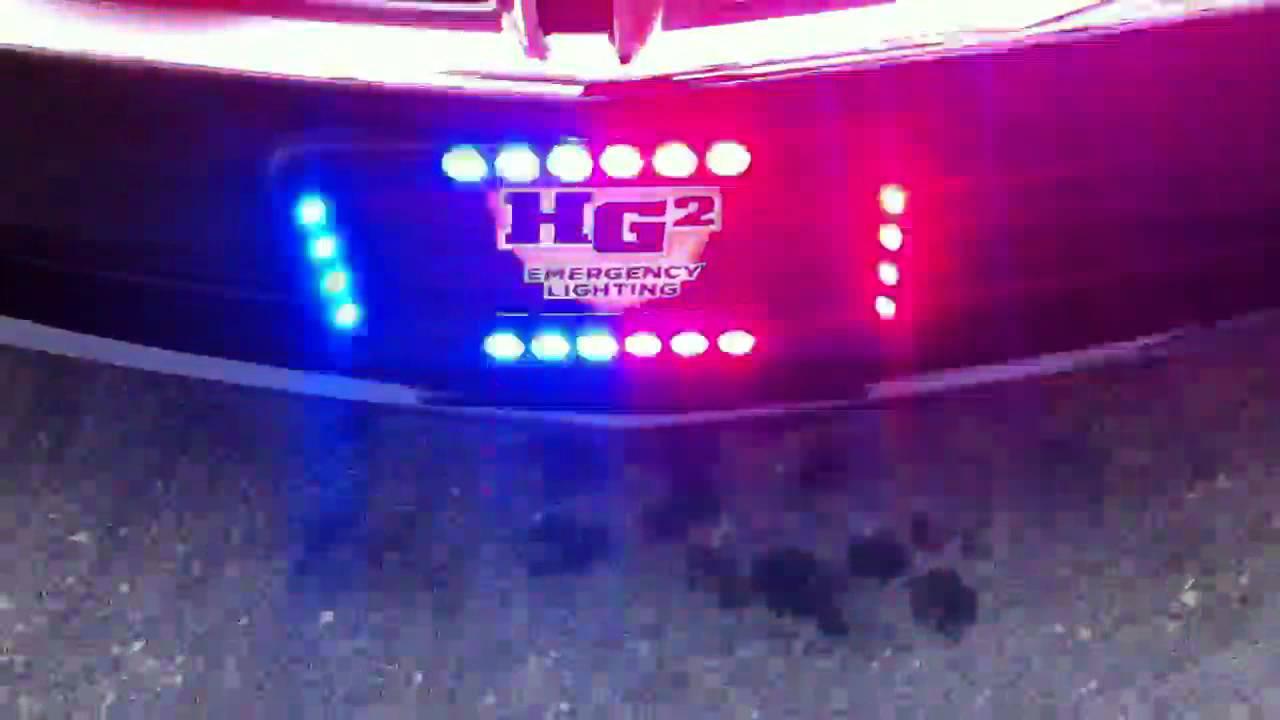 Hg2 Emergency Lighting Crossfire License Plate Frame Youtube