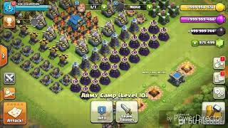 Air troops attack//clash of clans