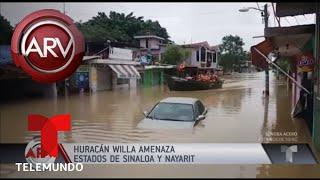 Huracán Willa pone en alerta las costas del Pacífico | Al Rojo Vivo | Telemundo