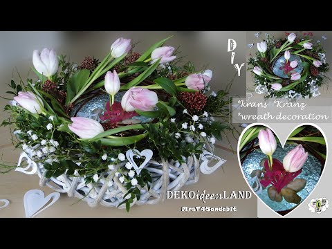 DIY: Frühlingsdeko, Muttertags Geschenk Kranz I Bloemschikken I Mother's day gift mrsT45andabit