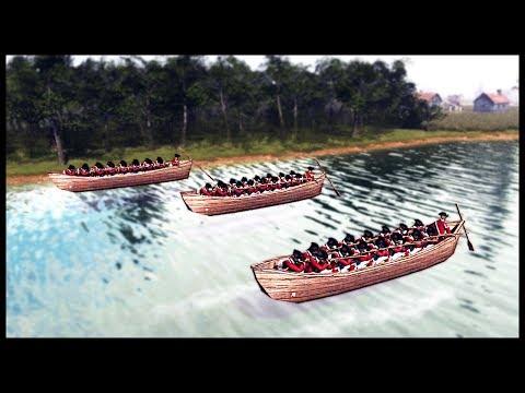 BRITISH REDCOATS IN ROWBOATS! 1775 American Revolutionary Battle - Men of War BITFA Mod Gameplay