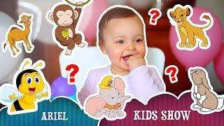 Ариэла учит звуки животных и слушает английские детские песни | Давайте учиться вместе!