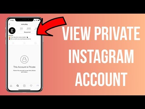 How to see profile pic of private account on instagram