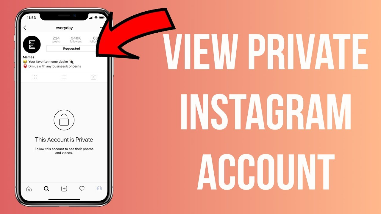 3 methods to view a private instagram account without following view private instagram profiles. Black Bedroom Furniture Sets. Home Design Ideas