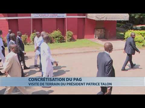 Patrice Talon en visite sur des chantiers du PAG