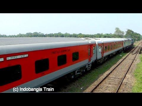 Maitree Express train Dhaka-Kolkata: Bangladeshi Engine Caring Indian Rake. thumbnail