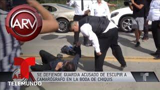 Miembro de seguridad de la boda de Chiquis se defiende | Al Rojo Vivo | Telemundo
