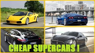 Top 5 SUPERCARS You Can Own Without Being Rich ! Cheap Supercars UNDER 50K ! As low as 20K !