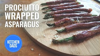 Prosciutto Wrapped Asparagus |  Easy Appetizers | Roasted Asparagus
