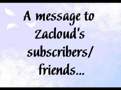 Message to Zacloud Subscribers n Friends n People