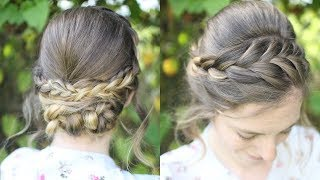 Heatless Braided Updo | Braided Hairstyles | Braidsandstyles12